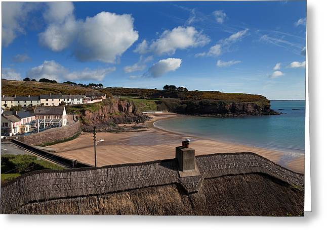 Thatch Greeting Cards - The Strand Inn And Dunmore Strand Greeting Card by Panoramic Images