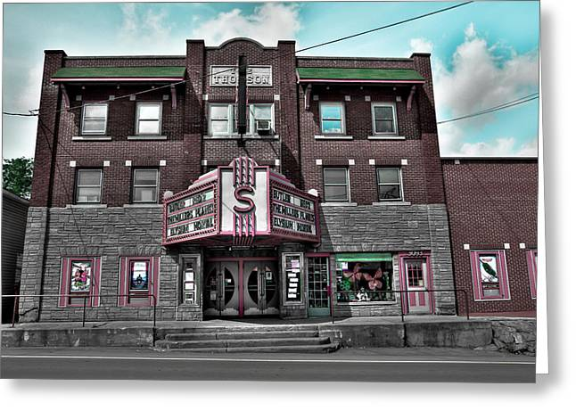 Movie Theatre Greeting Cards - The Strand Theatre Greeting Card by David Patterson