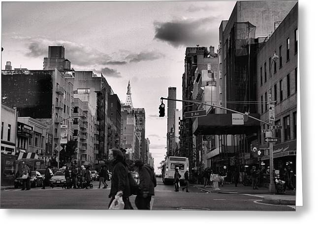 Despair Greeting Cards - The Streets of New York City Greeting Card by Dan Sproul