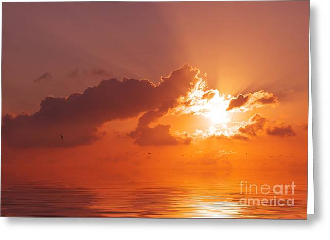 The Sunset Greeting Card by Angela Doelling AD DESIGN Photo and PhotoArt