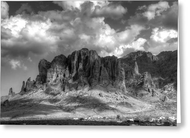 The Supes Greeting Cards - The Superstition Mountains  Greeting Card by Saija  Lehtonen