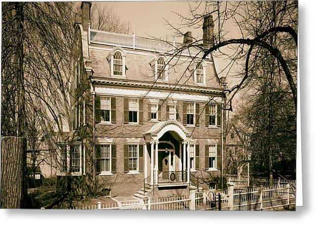 Taft Greeting Cards - The Taft House - Brown University 1958 Greeting Card by Mountain Dreams