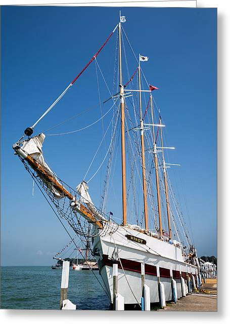 Wooden Ship Greeting Cards - The Tall Ship Windy Greeting Card by Dale Kincaid