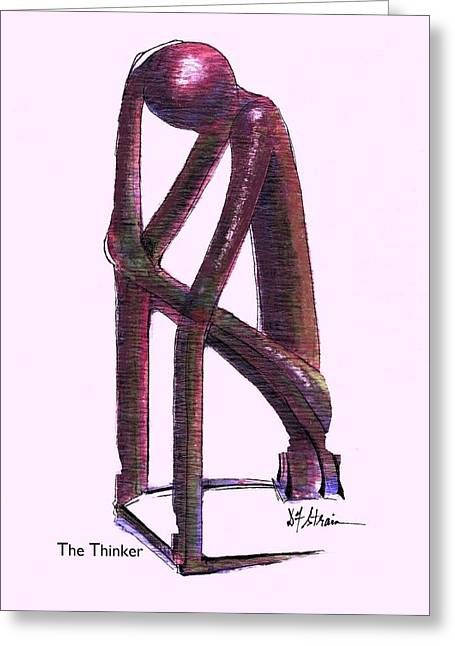Fineartamerica Greeting Cards - The Thinker Greeting Card by Diane Strain
