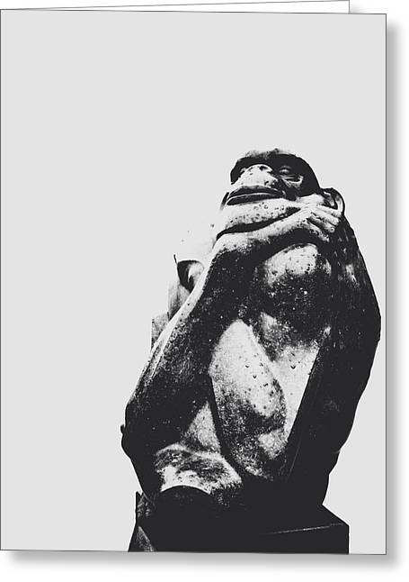 The Hills Greeting Cards - The Thinker Greeting Card by Natasha Marco