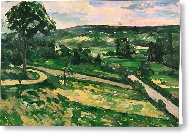 The Trees Greeting Cards - The Tree by the Bend Greeting Card by Paul Cezanne