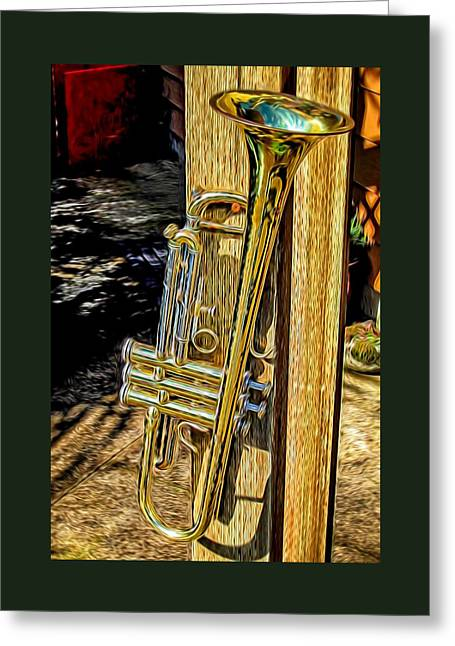 Gift Greeting Cards - The Trumpet Greeting Card by Thom Zehrfeld