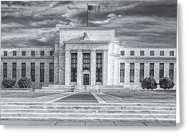Enterprise D Greeting Cards - The US Federal Reserve Board Building Greeting Card by Susan Candelario