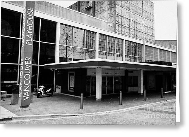 North Vancouver Greeting Cards - the Vancouver playhouse BC Canada Greeting Card by Joe Fox