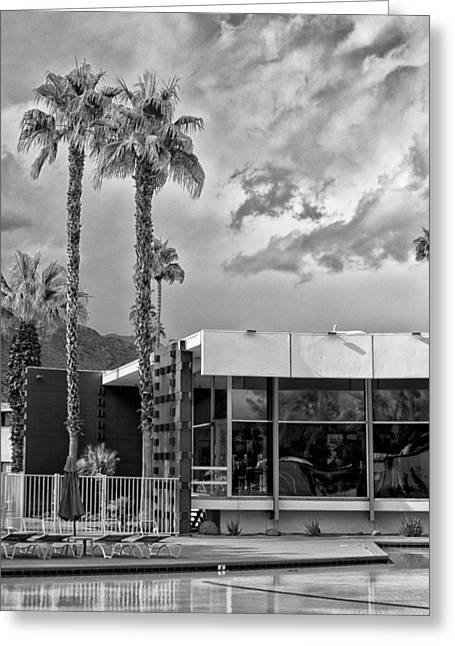 Black Lodge Greeting Cards - THE VIEW Palm Springs Greeting Card by William Dey