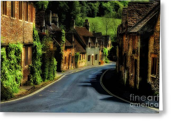 Mike Nellums Greeting Cards - The Village of Castlecombe England Greeting Card by Mike Nellums