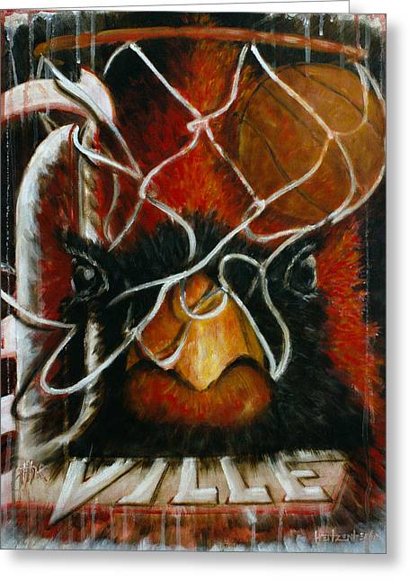 Sports Greeting Cards - The Ville Greeting Card by Josh Hertzenberg