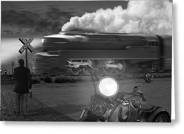 Harley Davidson Greeting Cards - The Wait Greeting Card by Mike McGlothlen
