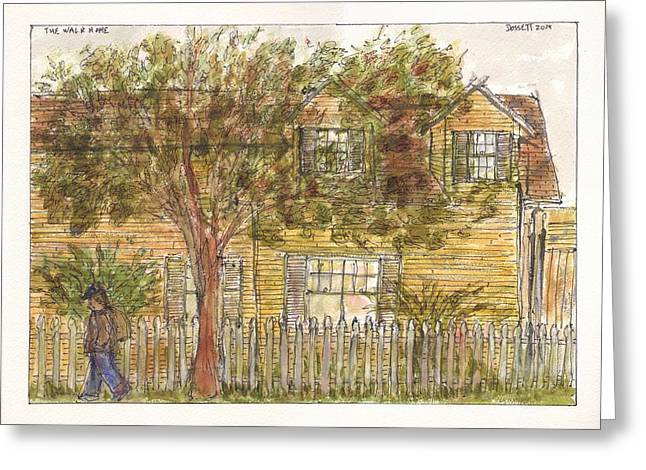Kingston Paintings Greeting Cards - The Walk Home Greeting Card by David Dossett