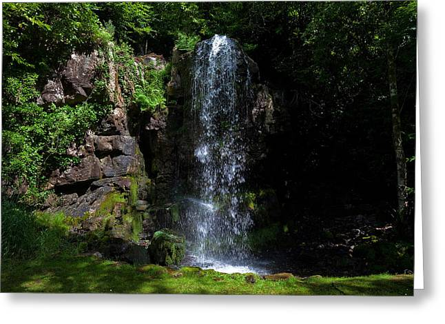 Reconstruction Greeting Cards - The Waterfall, Kilfane Glen And Garden Greeting Card by Panoramic Images