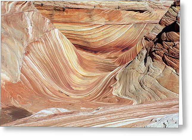 Sandstone Formation Greeting Cards - The Wave, Navajo Sandstone Formation Greeting Card by Panoramic Images