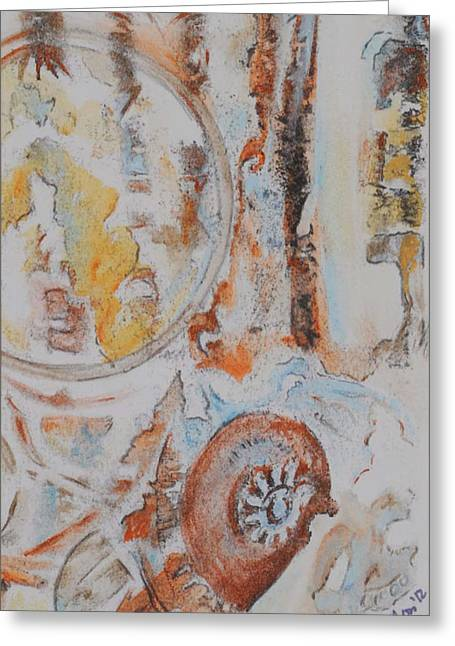 Cog Mixed Media Greeting Cards - The way things work 4 Greeting Card by Sherry Ross