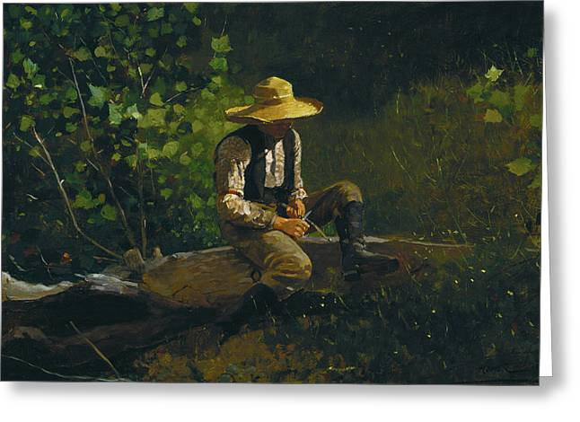 Marines Greeting Cards - The Whittling Boy  Greeting Card by Celestial Images