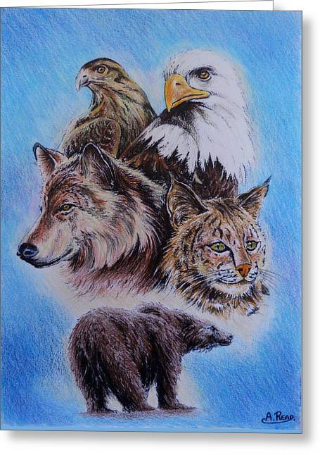 The Wildlife Collection 1  Greeting Card by Andrew Read