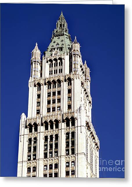 Woolworth Greeting Cards - The Woolworth Building Greeting Card by Rafael Macia