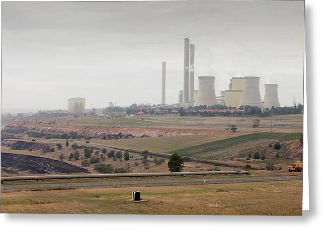 The Yan Lang Coal Fired Power Station Greeting Card by Ashley Cooper