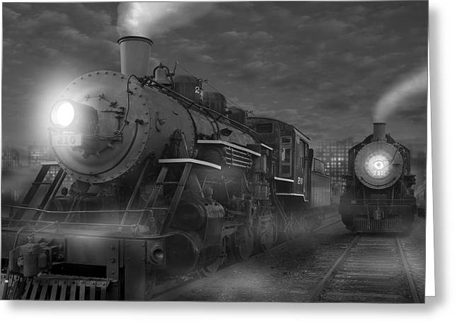 Train Greeting Cards - The Yard II Greeting Card by Mike McGlothlen
