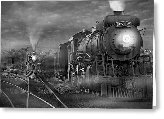 Train Yard Greeting Cards - The Yard Greeting Card by Mike McGlothlen