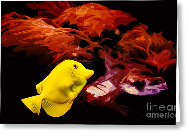 Coldblooded Greeting Cards - The Yellow Queen Greeting Card by Nishanth Gopinathan