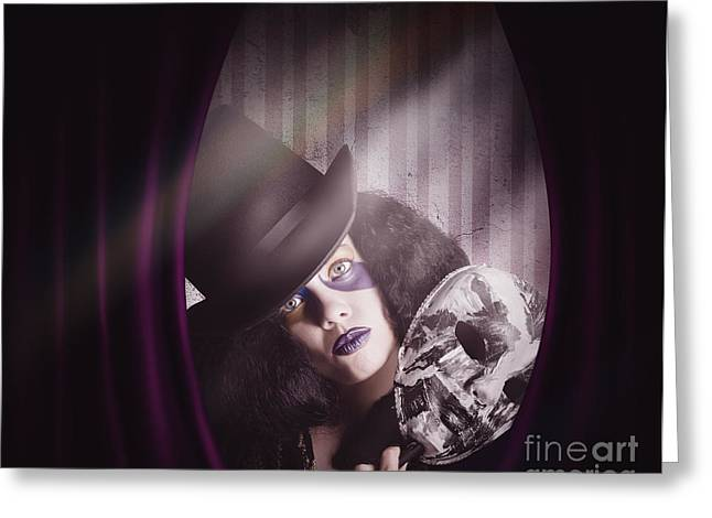 Theater Performer Play Acting Masquerade Show  Greeting Card by Jorgo Photography - Wall Art Gallery