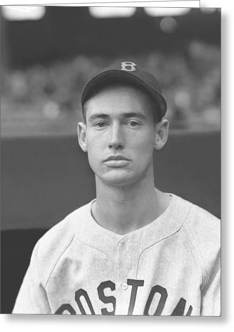 Ted Photographs Greeting Cards - Theodore S. Ted Williams Greeting Card by Retro Images Archive