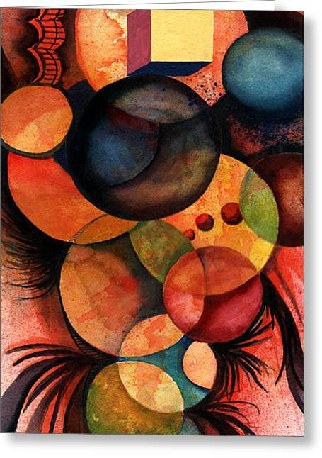 Spheres Paintings Greeting Cards - There Is One In Every Crowd Greeting Card by Sam Sidders