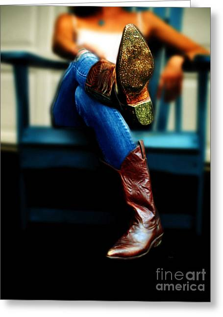 Boots Digital Greeting Cards - These Boots Are Made For Walking Greeting Card by Steven  Digman