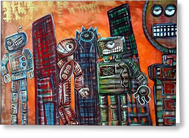 Mecha Greeting Cards - They Live Greeting Card by Laura Barbosa