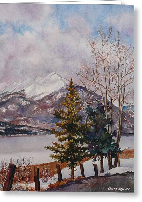 Dillon Greeting Cards - Thinking About Spring Greeting Card by Anne Gifford
