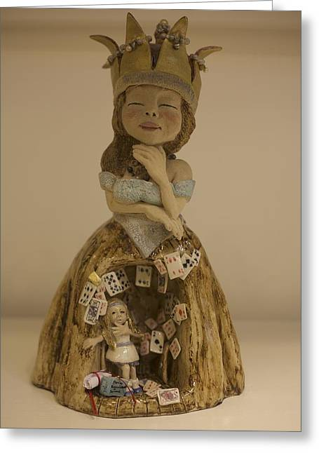 Unique Ceramics Greeting Cards - Thinking Of Alice Greeting Card by Dorienne Carmel