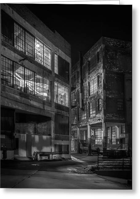 Ominous Greeting Cards - Third Ward Alley Greeting Card by Scott Norris
