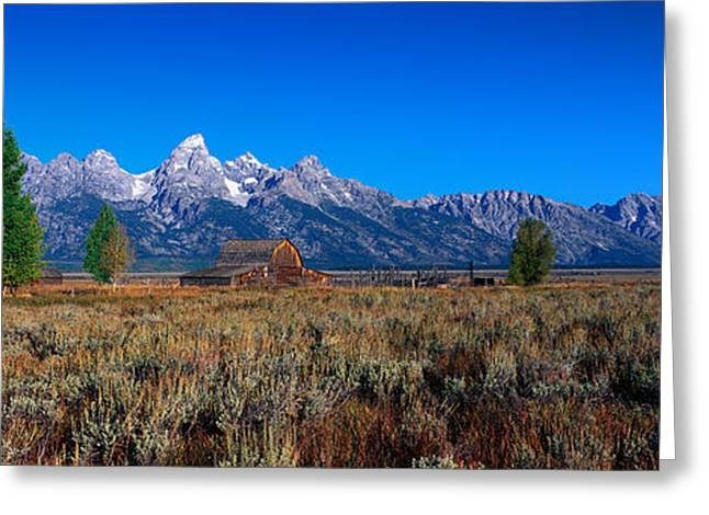 Pioneer House Greeting Cards - This Is Grand Teton National Park Greeting Card by Panoramic Images