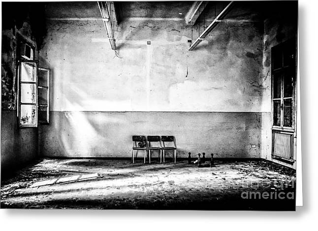 Mental Institution Greeting Cards - This is the way step inside Greeting Card by Traven Milovich
