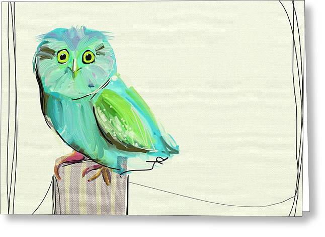 Happy Child Greeting Cards - This little guy Greeting Card by Cathy Walters
