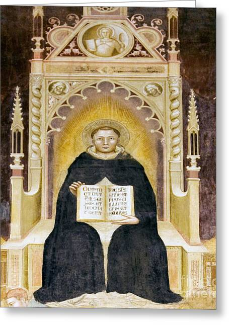 Theological Art Greeting Cards - Thomas Aquinas, Italian Priest Greeting Card by Sheila Terry