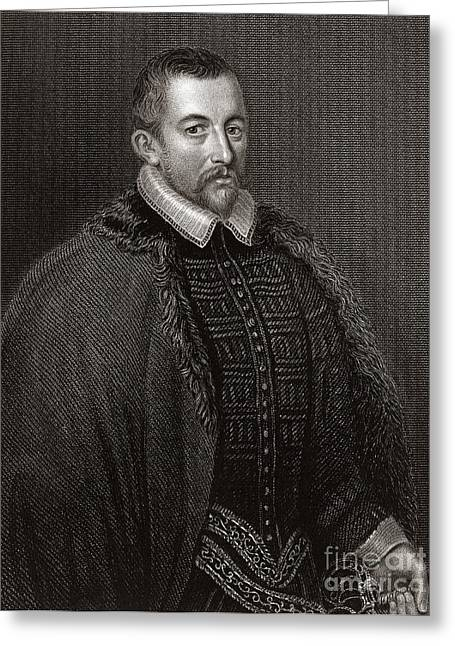 Recently Sold -  - British Portraits Greeting Cards - Thomas Bodley, English Diplomat Greeting Card by Middle Temple Library