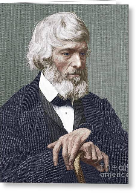 Sociology Photographs Greeting Cards - Thomas Carlyle, Scottish Author Greeting Card by Sheila Terry