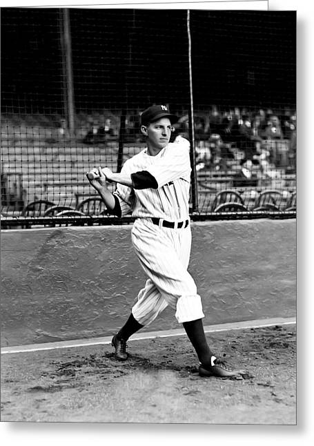 Yankee Stadium Greeting Cards - Thomas D. Tommy Henrich Greeting Card by Retro Images Archive