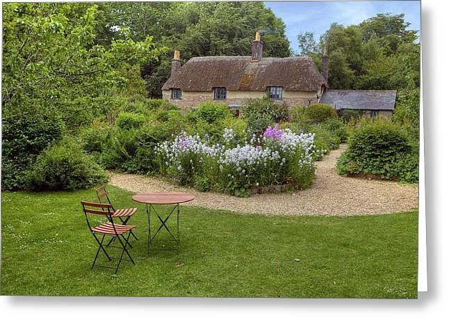 Thatch Greeting Cards - Thomas Hardys cottage Greeting Card by Joana Kruse