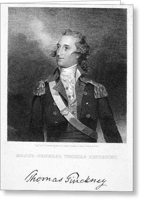 Autograph Greeting Cards - Thomas Pinckney (1750-1828) Greeting Card by Granger