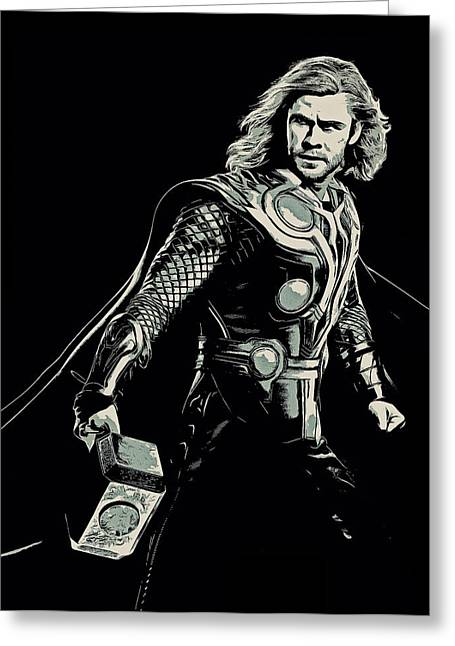 Blonde Greeting Cards - Thor God Of Thunder Greeting Card by - BaluX -