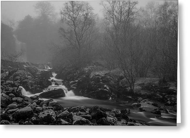 Cold Greeting Cards - Thornton Force Waterfall. Greeting Card by Daniel Kay