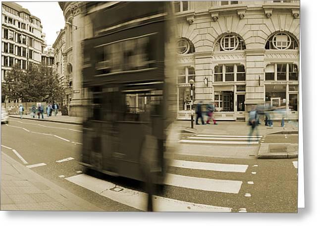 Threadneedle Street Greeting Card by Jan Faul