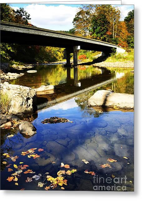 West Fork Greeting Cards - Three Forks Bridge Williams River Greeting Card by Thomas R Fletcher