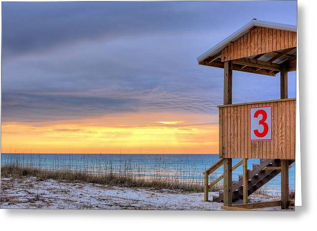 Florida Panhandle Greeting Cards - Three Greeting Card by JC Findley
